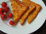 Eggless Cinnamon French Toast