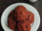 Eggless Double Chocolate Oats Cookies