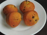Eggless Lemon Chocolate Chips Mini Muffins