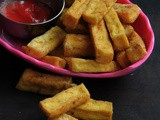 Gluten free Mini Tofu Fingers/Fried Tofu Fingers