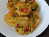 Mini Crustless Mixed Vegetable Quiche
