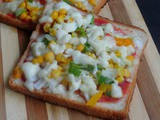 Tawa Bread Pizza/Mixed Vegetables Tawa Bread Pizza