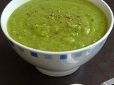 Vegan Green Peas & Wheat Rava Soup