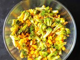 Broccoli - Sweet corn stir fry