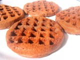 Eggless Whole Wheat Chocolate Waffles