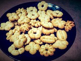 Spritz Christmas Cookies (Whole Wheat & Eggless Cookies)