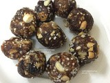 Dates and mixed nuts ball
