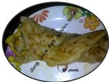 Palak Pepper Omelette Chappathi or Rotti Roll