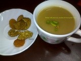 Parsley with Chest nut, Zucchini & Sweet Potato Soup