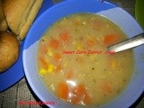 Sweet Corn Carrot Soup with Oregano