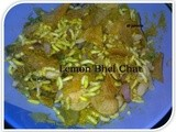 Tangy Lemon Bhel Chat with lays chips