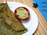 Cabbage Coconut Chutney ~ Healthy Side Dish for Dosas