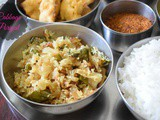 Cabbage Poriyal | Cabbage Stir Fry Tamil Nadu Style