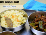 Easy Vegetable Pulao in Pressure Cooker