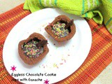 Eggless Chocolate Cookie cups with Ganache