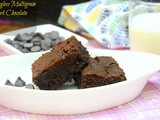 Eggless Multigrain Dark Chocolate Brownies