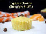 Eggless Orange Dark Chocolate Chip Muffin