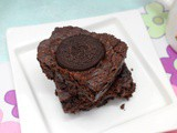 Eggless Oreo Chocolate Brownie