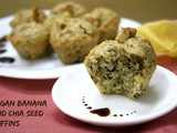 Eggless Vegan Banana and Chia Seed Muffins