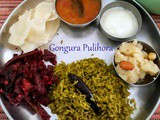 Gongura Pulihora | Andhra Style Red Sorrel Leaves Rice
