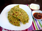 Green Pepper Parathas | How to make Pepper Stuffed Parathas