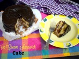 Ice Cream Sandwich Cake | Microwave Chocolate Vanilla Ice Cream Cake