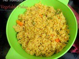 No Tomato Pressure Cooker Vegetable Pulao | Vegetable Pulao in Pressure Cooker