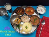 North Indian Thali 3 | North Indian Lunch Menu | Indian Menu Ideas