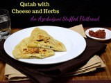 Qutab with Cheese and Herbs