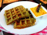 Savory Waffle with Sprouted Moong Dal Pancake | Pesarattu Waffle ~ Indian Style