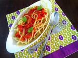 Spaghetti with Arrabiata Sauce ~ Easy Pasta Dishes for Kids