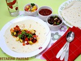 Vegetarian Fajitas | Veggie Fajitas with Grilled Corn, Beans and Salsa
