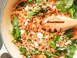 Butternut Squash Noodles with Goat Cheese and Pine Nuts