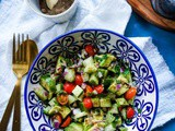 Cucumber Avocado Salad with Chat Masala