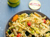 Mediterranean Style Pasta Salad with Grilled Summer Vegetables