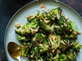 Perfect Oven Roasted Broccoli with Tandoori Ranch