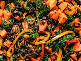 Southwest Black Bean, Kale and Sweet Potato Skillet