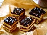 Chocolate Cherry and Caramel Bars / Шоколадно-Вишнево-Карамельные Пирожные