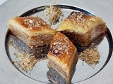 Home made Walnut Lemon Baklava