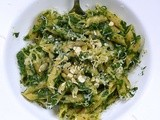 Penne with Basil-Spinach Pesto/ Пенне с Песто из Базилика и Шпината