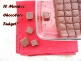 10 Minutes Chocolate Fudge...step by step