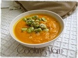 Vellutata di Carote con Fave e Pecorino (Carrot Soup with Fava Beans and Pecorino Cheese)