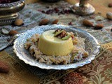 Saffron-nut Panna cotta with sheer khurma