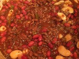 Beef & Bean Bake for tailgating