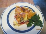 Blt – Bacon & Tomato Pie served w/ a lettuce salad