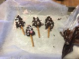 Chocolate Peppermint Christmas Trees