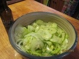 Cucumber & Onion Salad – Simple fare that is refreshing any time of the year