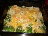 Going green with gratin! Broccoli & Cauliflower Gratin