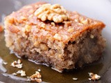 Honey-drenched Greek Walnut Cake