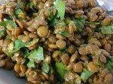 Indian Spiced Lentils – a great side dish or a vegetarian main dish
